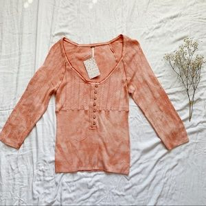 Free People Tops - FREE PEOPLE Rory Henley In Peach